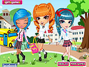 Игра Cutie Trend School Girl Group Dress Up